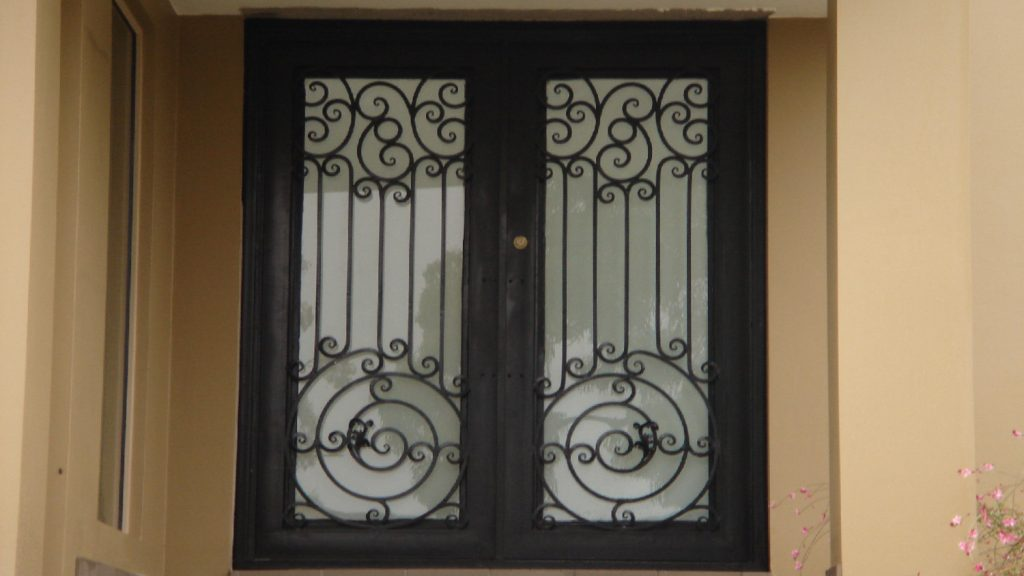 Wrought Iron Entry Doors 06