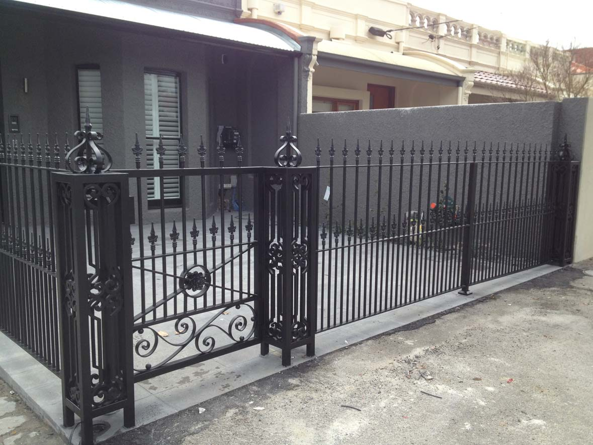 Wrought iron pedestrian gates