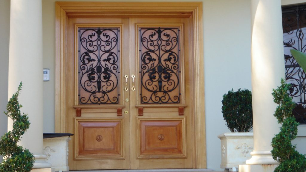 Wrought Iron Entry Doors 05