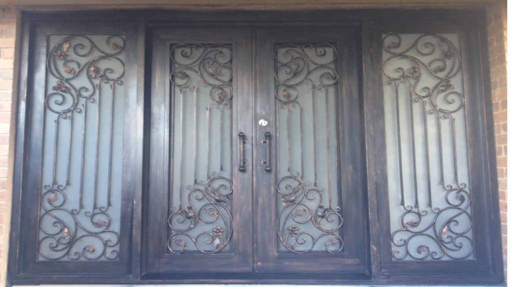 Wrought Iron Entry Doors 07 ... & Wrought Iron Entry and Security Doors in Melbourne
