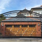 Wrought Iron Security Driveway Gate 01