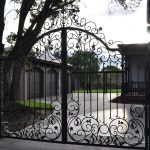 Wrought Iron Security Driveway Gate 08
