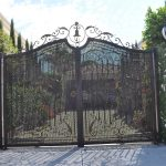 Wrought Iron Security Driveway Gate 09